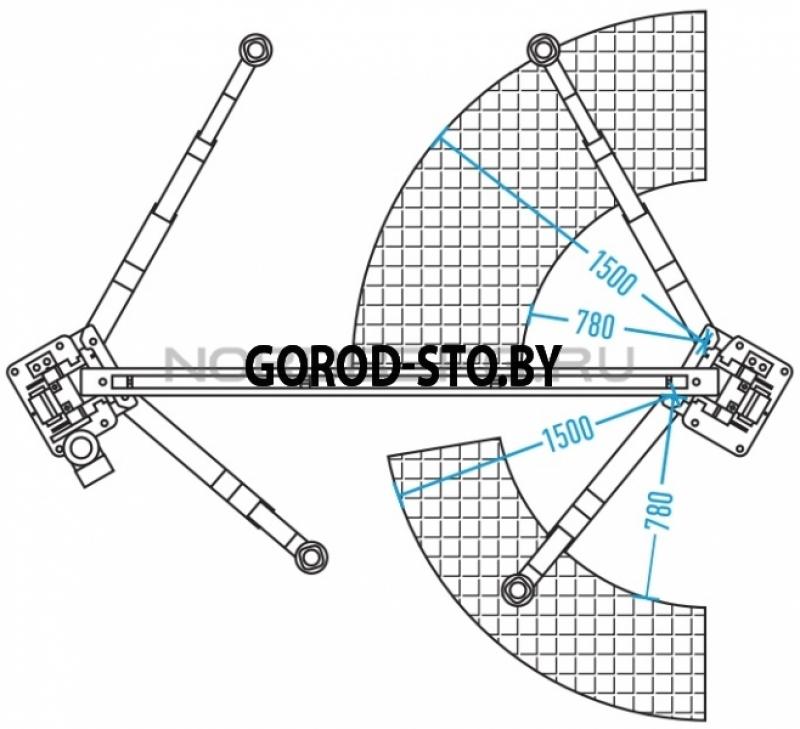 Подъёмник 2-х стоечный электрогидравлический NORDBERG N4122H-4.5T
