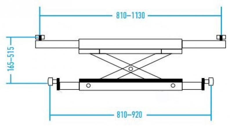 Схема траверсы к Nordberg 4440J