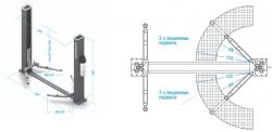 Подъёмник 2-х стоечный электрогидравлический NORDBERG N4120A-4T 380V