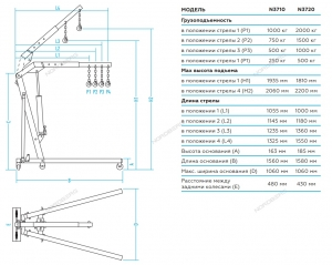 Кран гидравлический складной NORDBERG N3720